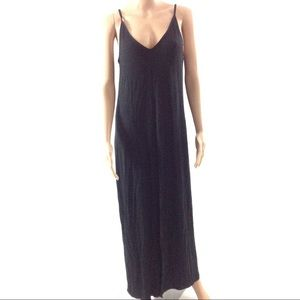 Asos Maxi Dress Black Cami Size 8